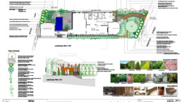 floor plan and cross section floor plan of garden